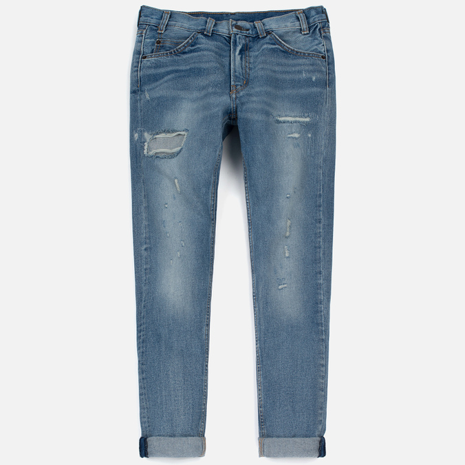 Женские джинсы Levi's 505 C Orange Tab Slim Straight Blue On Blue
