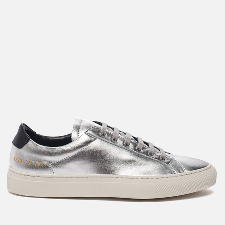 Женские кеды Common Projects Achilles Retro Low Silver/Black