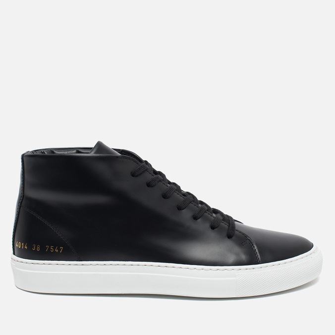Женские кеды Common Projects New Court Mid Leather Black