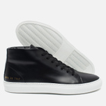 Женские кеды Common Projects New Court Mid Leather Black фото- 1