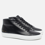 Женские кеды Common Projects New Court Mid Leather Black фото- 2