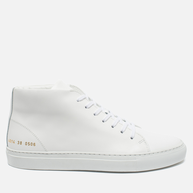 Женские кеды Common Projects New Court Mid Leather White