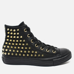 Женские кеды Converse Chuck Taylor All Star Classic Studded High Top Black фото- 0