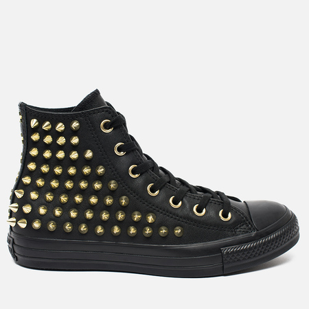 Женские кеды Converse Chuck Taylor All Star Classic Studded High Top Black