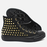 Женские кеды Converse Chuck Taylor All Star Classic Studded High Top Black фото- 2