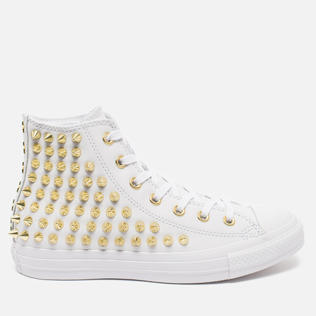 Женские кеды Converse Chuck Taylor All Star Classic Studded High Top White