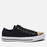 Женские кеды Converse Chuck Taylor All Star Metallic Toecap Black/Gold/White фото- 0