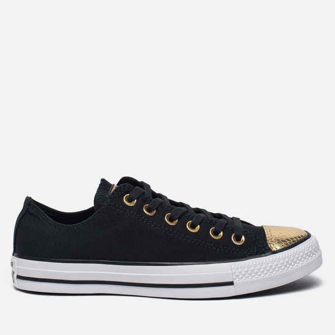 Женские кеды Converse Chuck Taylor All Star Metallic Toecap Black/Gold/White