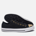 Женские кеды Converse Chuck Taylor All Star Metallic Toecap Black/Gold/White фото- 1