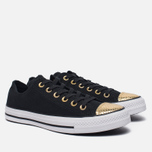 Женские кеды Converse Chuck Taylor All Star Metallic Toecap Black/Gold/White фото- 2