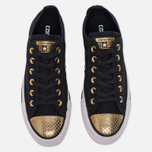 Женские кеды Converse Chuck Taylor All Star Metallic Toecap Black/Gold/White фото- 4