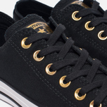 Женские кеды Converse Chuck Taylor All Star Metallic Toecap Black/Gold/White фото- 5