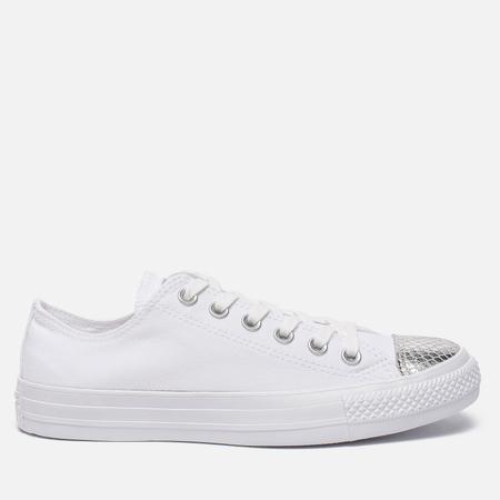Женские кеды Converse Chuck Taylor All Star Metallic Toecap White/Silver/White
