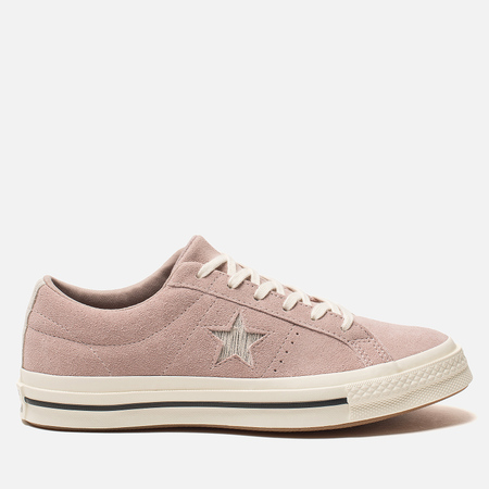Женские кеды Converse One Star Metallic Logo Low Diffused Taupe/Silver/Egret