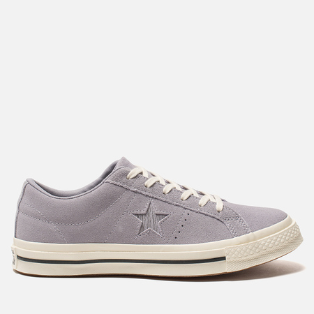 Женские кеды Converse One Star Metallic Logo Low Provence Purple/Silver/Egret