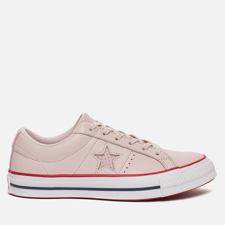 Женские кеды Converse One Star New Heritage Low Barely Rose/Gym Red/White