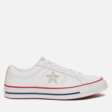 Женские кеды Converse One Star New Heritage White/Gym Red/White