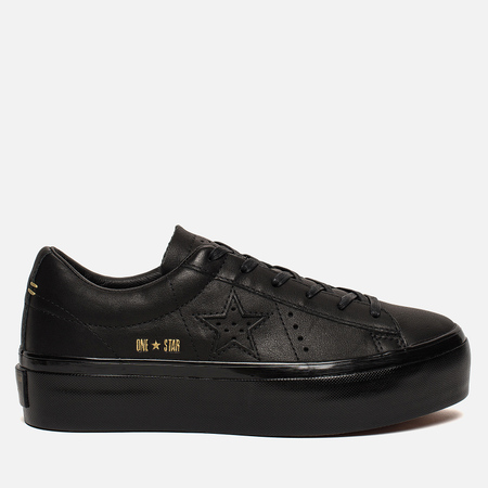 Женские кеды Converse One Star Platform Leather Black