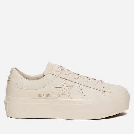 Женские кеды Converse One Star Platform Leather Bone