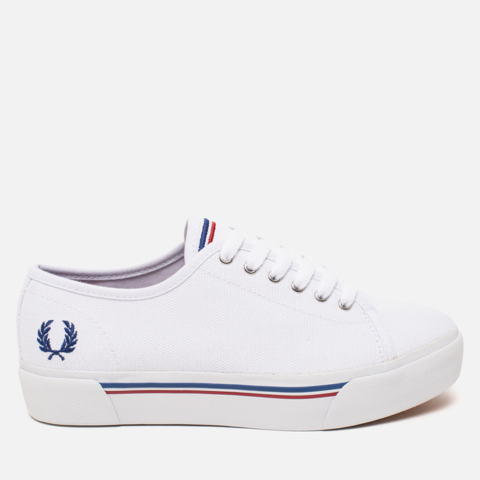 Женские кеды Fred Perry Phoenix Flatform Heavy Canvas White