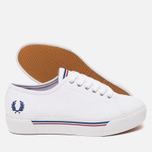 Женские кеды Fred Perry Phoenix Flatform Heavy Canvas White фото- 2