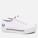 Женские кеды Fred Perry Phoenix Flatform Heavy Canvas White фото- 1