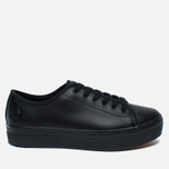 Женские кеды Fred Perry Phoenix Flatform Leather Black фото- 0
