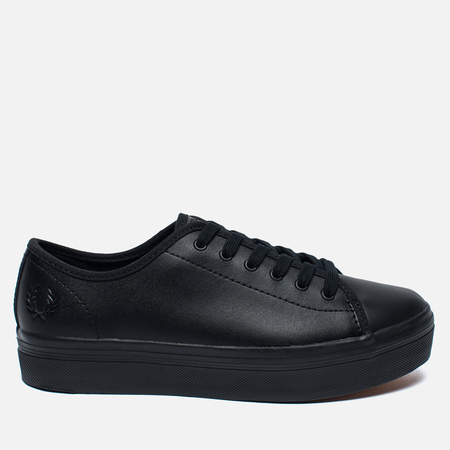 Fred Perry Phoenix Flatform Leather Women's Plimsoles Black