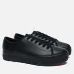 Женские кеды Fred Perry Phoenix Flatform Leather Black фото- 1