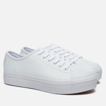 Fred Perry Phoenix Flatform Women's Plimsoles Leather White photo- 1