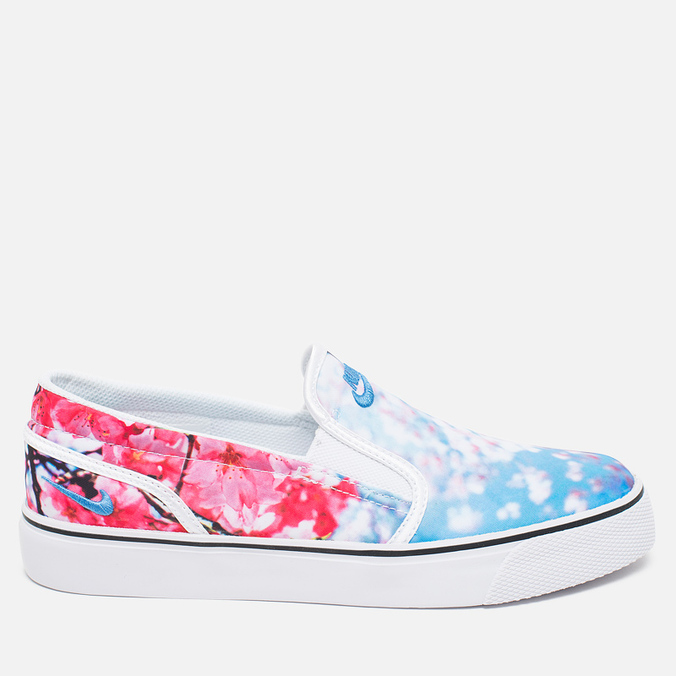 Женские кеды Nike Toki Slip Cherry Blossom Pack White/University Blue