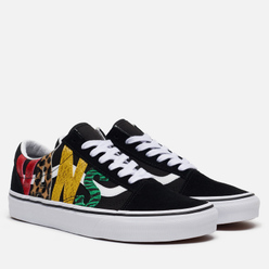 Женские кеды Vans Old Skool Low Multi Animal Rasta/Black