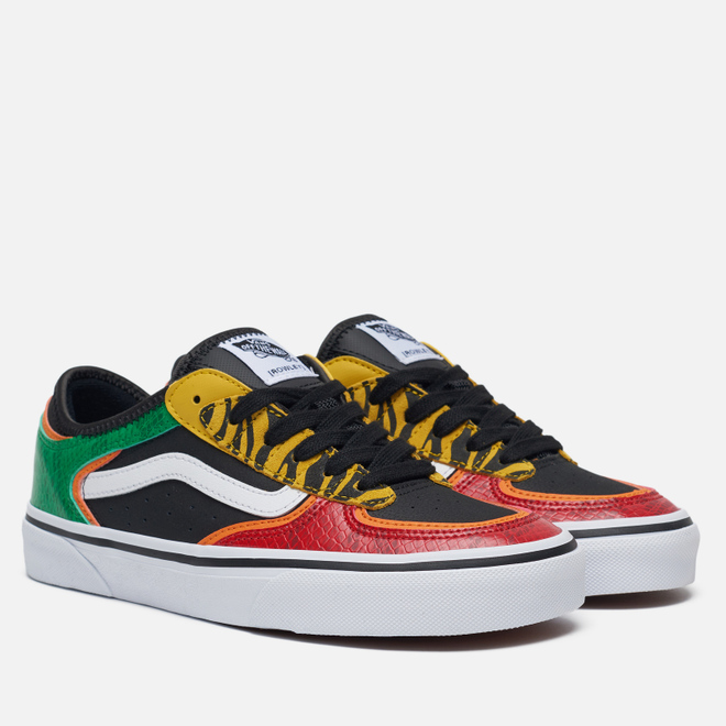 Женские кеды Vans Rowley Classic Black/Green/Red/Yellow