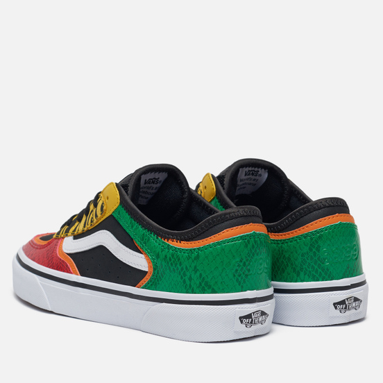 Женские кеды Vans Rowley Classic Black/Green/Red/Yellow