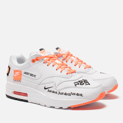Женские кроссовки Nike Air Max 1 Lux Just Do It White/Black/Total Orange