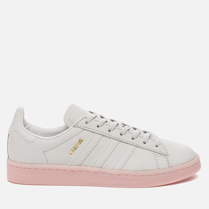 Женские кроссовки adidas Originals Campus Crystal White/Crystal White/Ice Pink