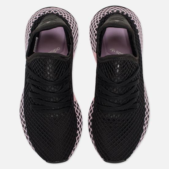 Женские кроссовки adidas Originals Deerupt Core Black/Core Black/Clear Lilac