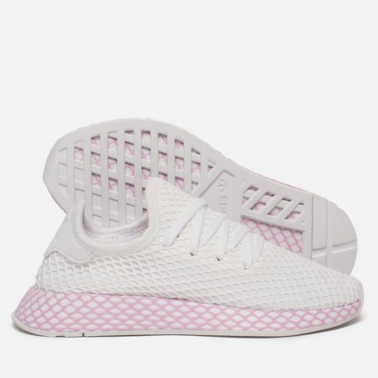 Женские кроссовки adidas Originals Deerupt White/White/Clear Lilac