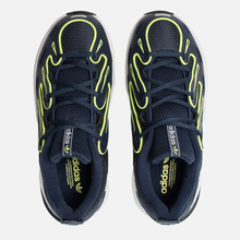 Женские кроссовки adidas Originals EQT Gazelle Collegiate Navy/Silver Metallic/Solar Yellow фото- 1