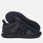 Женские кроссовки adidas Originals EQT Support ADV Core Black/Core Black/Sub Green фото- 1