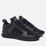 Женские кроссовки adidas Originals EQT Support ADV Core Black/Core Black/Sub Green фото- 2
