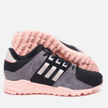 Женские кроссовки adidas Originals EQT Support RF Core Black/Ice Purple/Haze Coral фото- 1