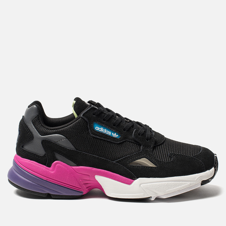 Женские кроссовки adidas Originals Falcon Core Black/Core Black/Shock Pink