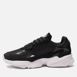 Женские кроссовки adidas Originals Falcon Core Black/Core Black/White фото- 1