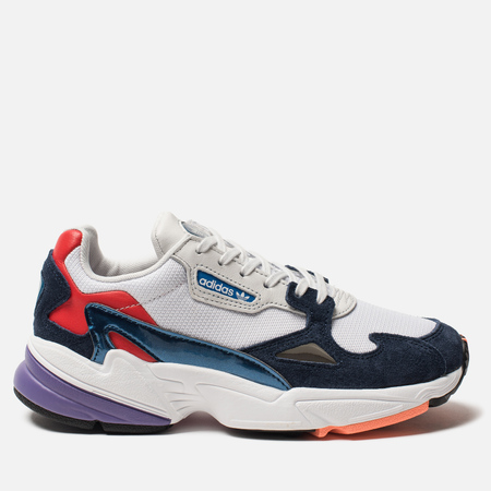 Женские кроссовки adidas Originals Falcon Crystal White/Crystal White/Collegiate Navy