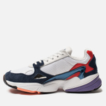 Женские кроссовки adidas Originals Falcon Crystal White/Crystal White/Collegiate Navy фото- 1