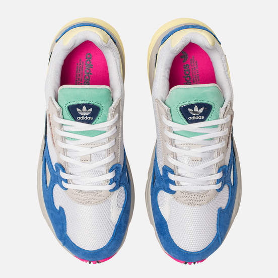 Женские кроссовки adidas Originals Falcon White/White/Blue