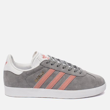 Женские кроссовки adidas Originals Gazelle Grey/Pink/White