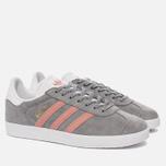 Женские кроссовки adidas Originals Gazelle Grey/Pink/White фото- 2