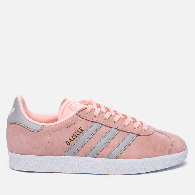 d2592e83a030 Женские кроссовки adidas Originals Gazelle Pink Grey White BA7656